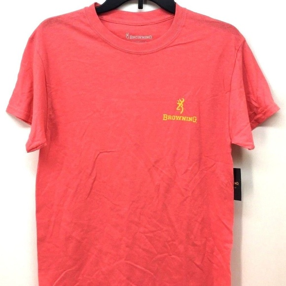 a4b4ea78 Browning Tops | Womens Yellow Logo Tshirt Sz S | Poshmark
